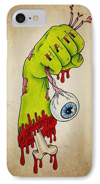 Zombie Hatred IPhone Case