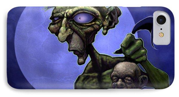 Zombie Head-hunter Phone Case by Jephyr Art