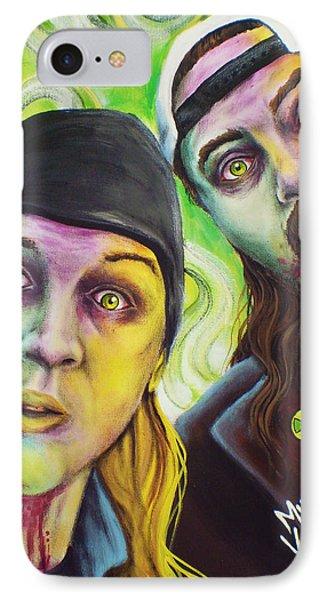 Ben Affleck iPhone 7 Case - Zombie Jay And Silent Bob by Mike Vanderhoof