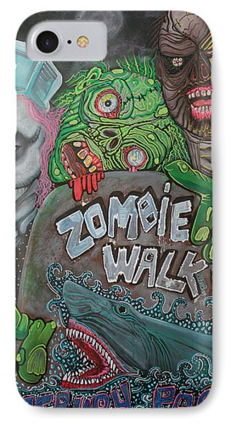Zombie Walk IPhone Case by Laura Barbosa
