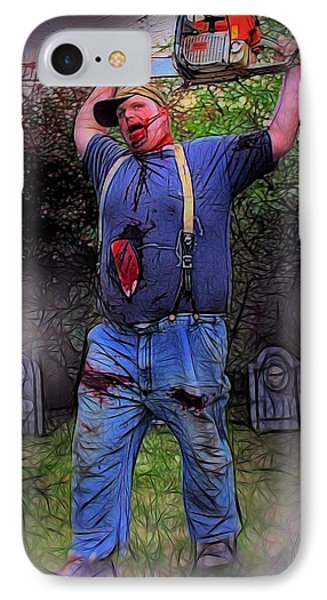 Zombie With Chainsaw  IPhone Case