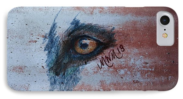 Zombie Wolf Eye IPhone Case by Michelle Wolff