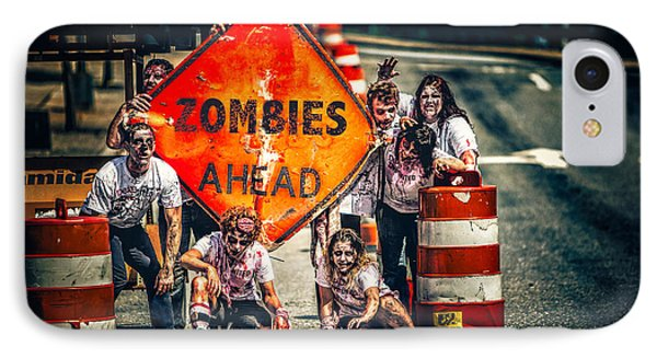 IPhone Case featuring the photograph Zombies Ahead by Joshua Minso
