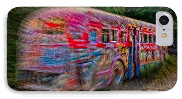 Zooming Graffiti Bus IPhone Case