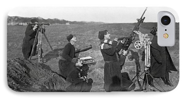 Zouave Anti-aircraft Gun IPhone Case by Underwood Archives