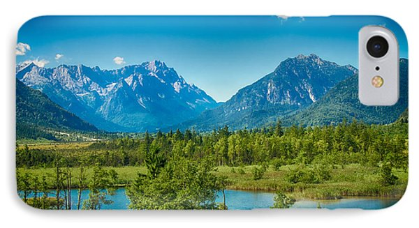 Zugspitze IPhone Case by Juergen Klust