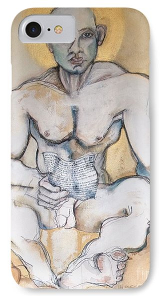 IPhone Case featuring the painting The Poet by Carolyn Weltman