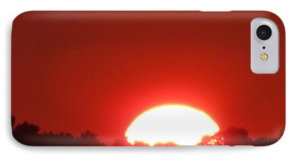 IPhone Case featuring the photograph  A Very Red Summer Sunset by Tina M Wenger