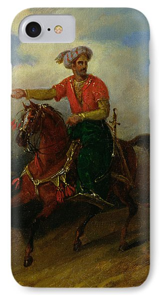 An Ottoman On Horseback  Phone Case by Charles Bellier