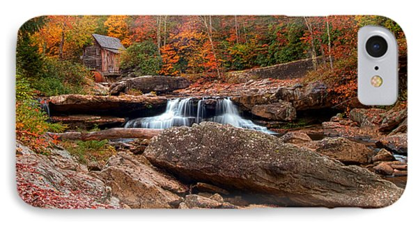 Autumn Leaves At The Mill IPhone Case by Randall Branham