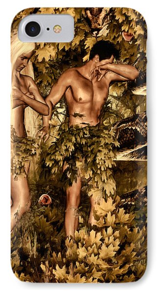 Birth Of Sin IPhone Case by Lourry Legarde