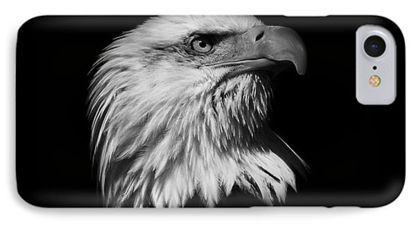 Black And White American Eagle IPhone Case by Steve McKinzie