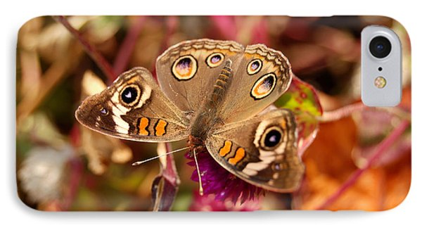 IPhone Case featuring the photograph  Buckeye Butterfly  by Eva Kaufman