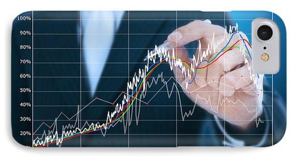 Businessman Writing Graph Of Stock Market  Phone Case by Setsiri Silapasuwanchai