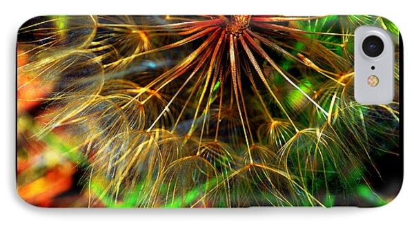IPhone Case featuring the photograph  Dandelion Dreamtime by Susanne Still