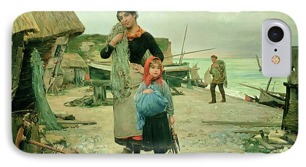 Fisherfolk Returning With Their Nets Phone Case by Henry Bacon