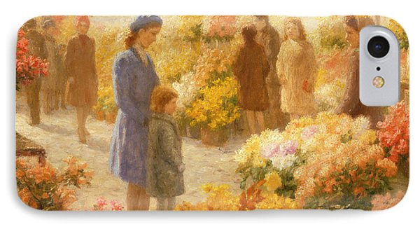 Flower Market  IPhone Case by Hendrik Heyligers