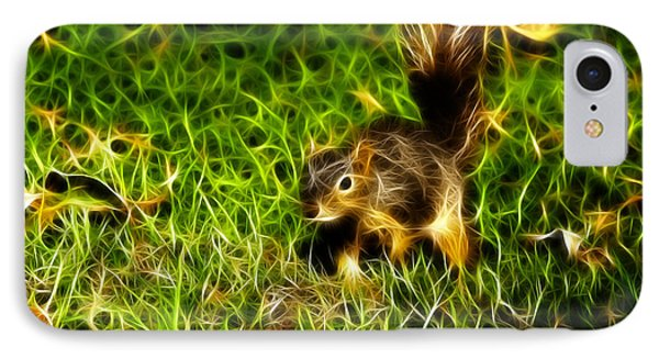 - Fractal - Pointer - Robbie The Squirrel IPhone Case by James Ahn