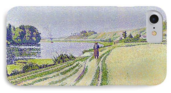 Herblay La River  Phone Case by Paul Signac