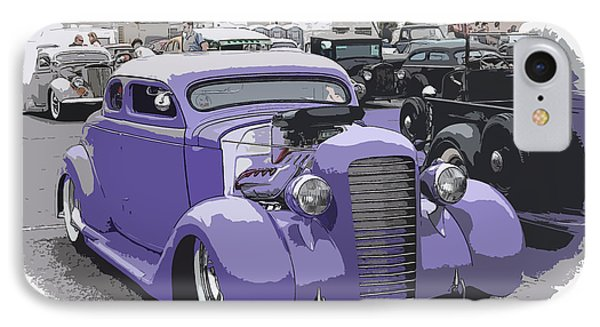 Hot Rod Purple Phone Case by Steve McKinzie