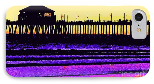IPhone Case featuring the photograph  Huntington Beach Pier   by Everette McMahan jr