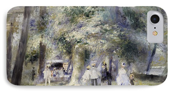 In The Park At Saint-cloud IPhone Case by Pierre Auguste Renoir