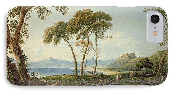 Landscape With Harlech Castle IPhone Case by John Varley