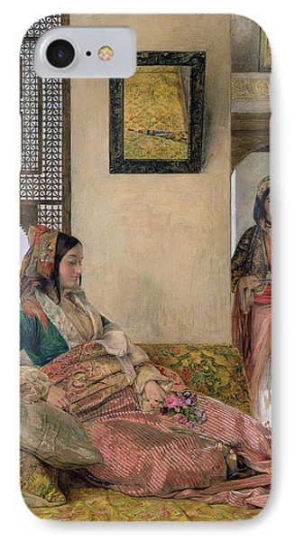 Life In The Harem - Cairo Phone Case by John Frederick Lewis