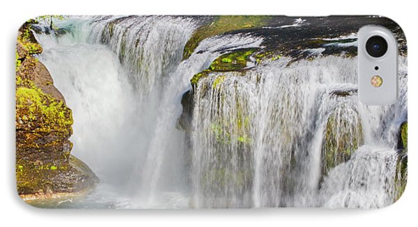 Lower Falls On The Upper Lewis River IPhone Case by Ansel Price
