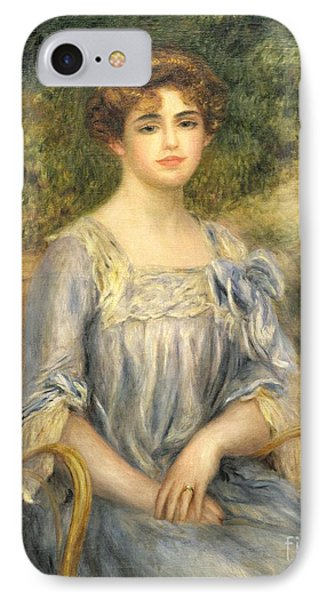 Madame Gaston Bernheim De Villers  Phone Case by Pierre Auguste Renoir