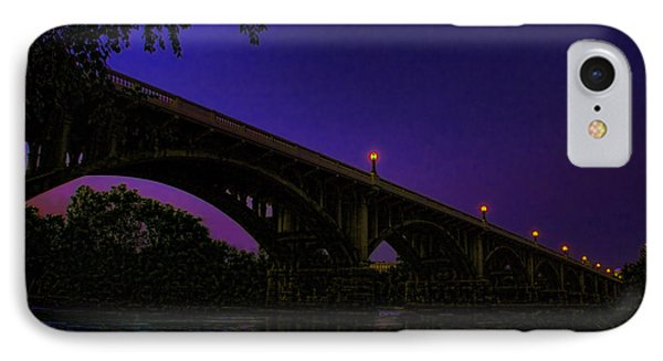 Night Glow On The Gervais Bridge IPhone Case by Steven Richardson