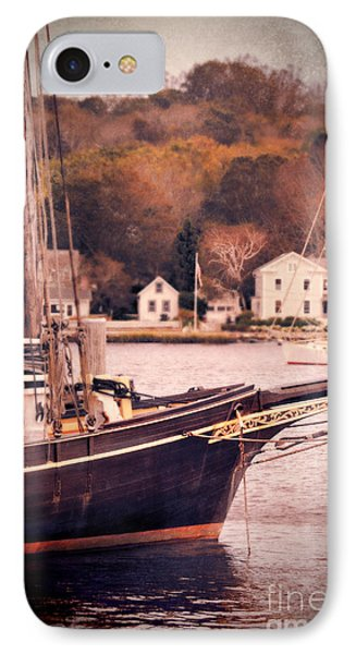 Old Ship Docked On The River Phone Case by Jill Battaglia