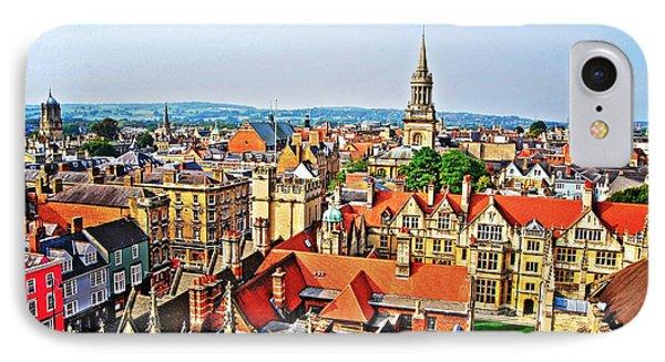 Oxford Cityscape IPhone Case by Yhun Suarez