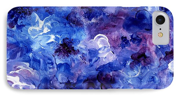 Painting Of Flowers Energy In Abstract Form IPhone Case by Annie Zeno