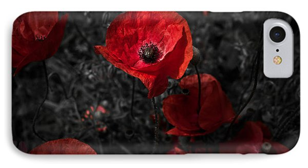 IPhone Case featuring the photograph  Poppy Red by Beverly Cash