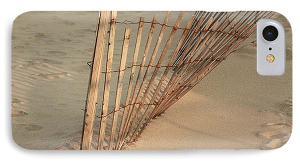 IPhone Case featuring the photograph  Sandy Beach Fence by Ann Murphy