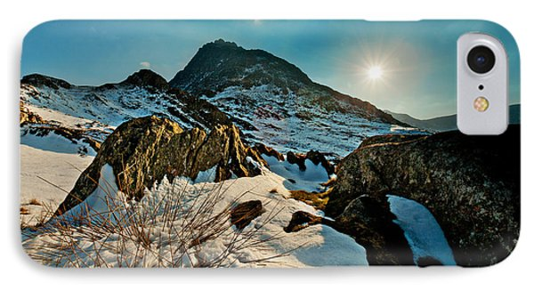Spring Snows At Tryfan IPhone Case by Beverly Cash