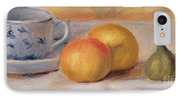 Still Life With Blue Cup Nature Morte A La Tasse Bleue Phone Case by Pierre Auguste Renoir