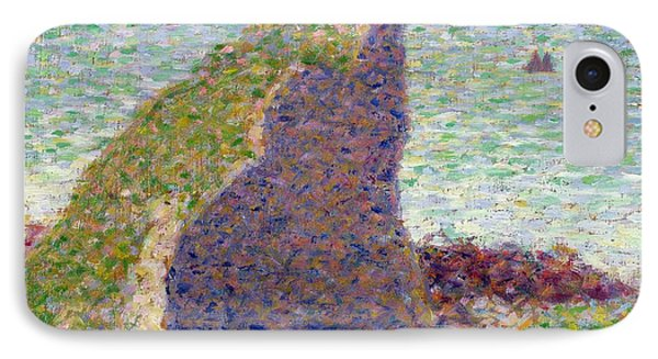Study For Le Bec Du Hoc Phone Case by Georges Pierre Seurat