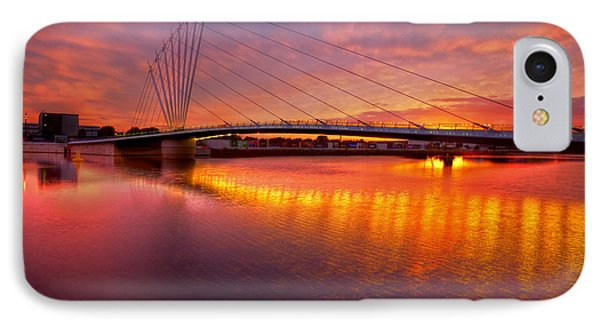 IPhone Case featuring the photograph  Sunset Over The Quay by Beverly Cash