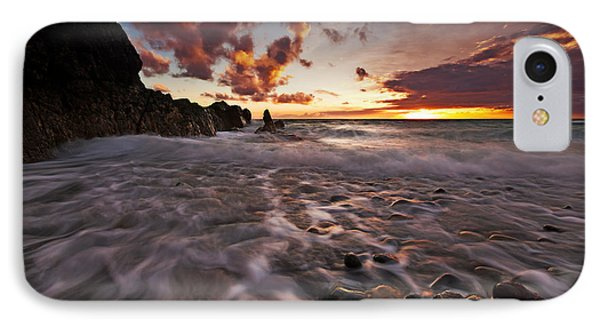Sunset Tides - Porth Swtan IPhone Case by Beverly Cash