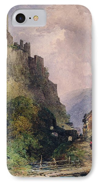 The Castle Of Katz On The Rhine Phone Case by William Callow