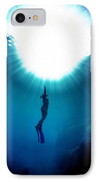 The Freediver IPhone Case by Rico Besserdich