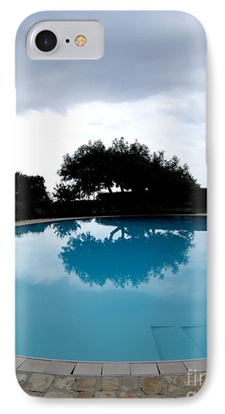 Tree At The Pool On Amalfi Coast IPhone Case by Tanya  Searcy