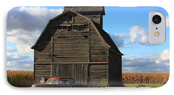 Vintage Cadillac And Barn Phone Case by Lyle Hatch