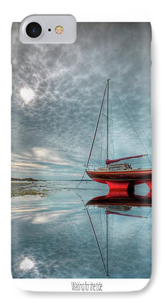 IPhone Case featuring the photograph  Waiting For The Tide by Beverly Cash