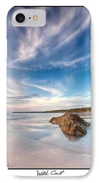 Welsh Coast - Porth Colmon IPhone Case by Beverly Cash