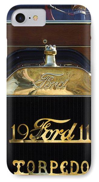1911 Ford Model T Torpedo Hood Ornament Phone Case by Jill Reger