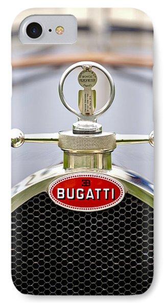 1923 Bugatti Type 23 Brescia Lavocat Et Marsaud Hood Ornament  Phone Case by Jill Reger