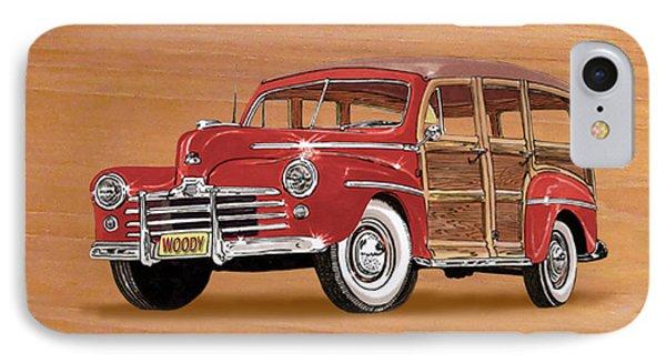 1946 Ford Woody Phone Case by Jack Pumphrey
